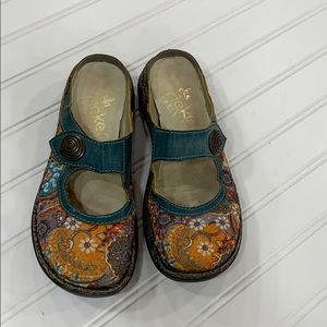 Rieker Antistress Floral Mary Jane Mules - sz 36